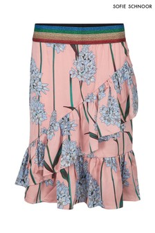 Sofie Schnoor Pink Floral Wrap Skirt Coord