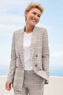 ff9726a6207 Emma Willis Pastel Check Double Breasted Jacket. I m available in petite  sizes