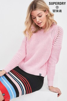 Superdry Pink Knit Jumper