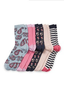 Pattern And Stripe Socks Five Pack