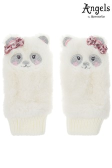 Angels by Accessorize White Fluffy Patsy Panda Mitten