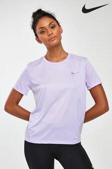 Nike Lilac Miler Running T-Shirt