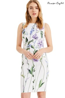 Phase Eight White May Stem Flower Dress