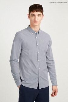 Chemise teintée et boutonnée French Connection bleue