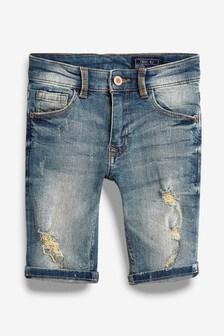 Distressed Denim Shorts (3-16yrs)