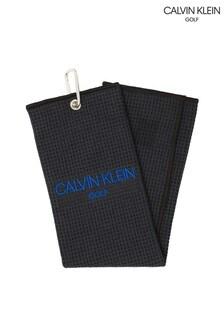 Calvin Klein Golf Black Waffle Towel