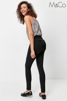 M&Co Black Skinny Fit Ponte Trousers