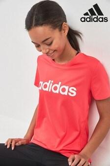 adidas Red D2M Logo Tee