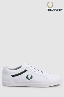 Fred Perry Baseline Tipped Collar Mesh Trainer