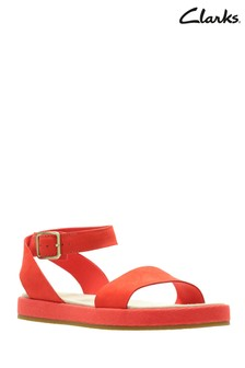Clarks Orange Botanic Ivy Sandal