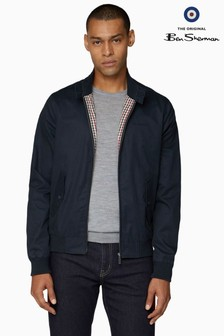 Ben Sherman Blue Script Harrington Jacket