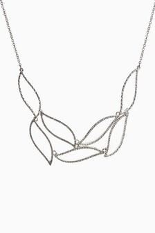 Stone Effect Sparkle Short Necklace
