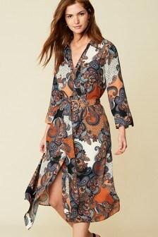فستان قميص مطبوع
