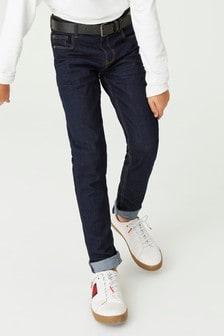 Jeans a cinque tasche con cintura (3-16 anni)