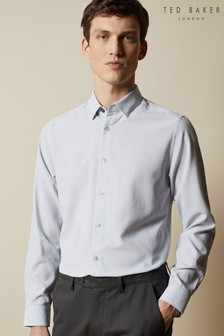 Ted Baker White Offme Geo Print Shirt