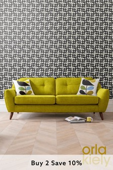 Orla Kiely Laurel Medium Sofa with Oak Feet