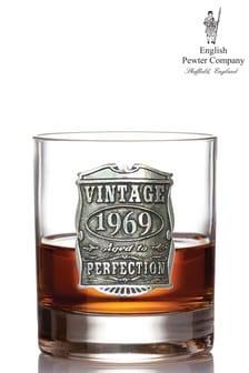 Юбилейный стакан для виски в винтажном стиле English Pewter Company