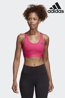 adidas Gym Pink Don't Rest Alphaskin Sports Bra