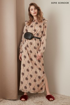 Sofie Schnoor Nude Palm Tree Maxi Dress