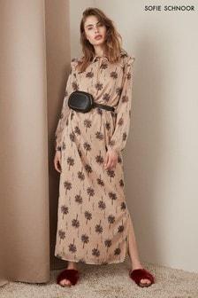 שמלת מקסי של Sofie Schnoor דגם Palm Tree בצבע ניוד