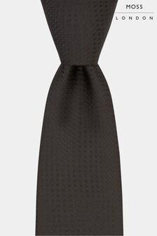 Moss London Strukturierte Krawatte, schwarz