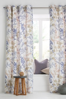 Silhouette Leaf Curtains