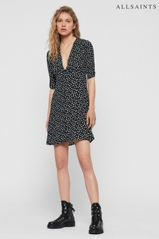 AllSaints Black Floral Scatter Kota Dress