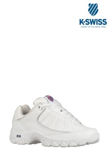 K•Swiss White ST529 Heritage Trainer