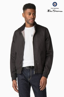 Ben Sherman Black Script Harrington Jacket
