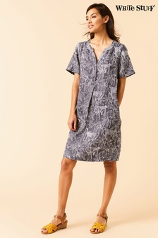 White Stuff Grey Leaf It Out Dress
