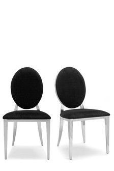Set Of 2 Elinore Opulent Velvet Dining Chairs
