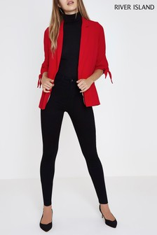 River Island Black High Rise Harper Jeans
