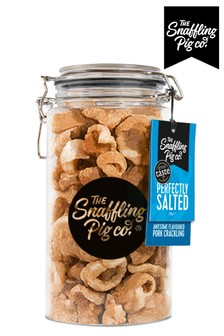 Pork Scratching BBQ 275g Jar by Snaffling Pig