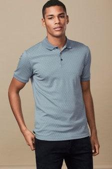 Рубашка поло с геометрическим рисунком