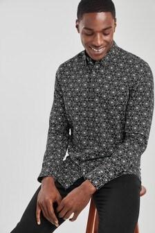 Slim Fit Geo Print Shirt