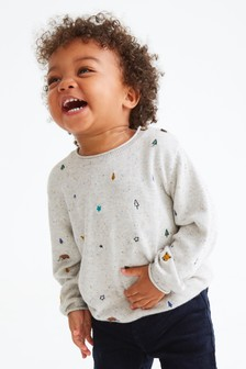 Embroidered Woodland Animal Jumper (3mths-7yrs)