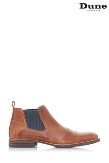 Dune Mens Tan Double Toecap Boot