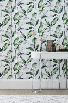Paste The Wall Banana Leaf Wallpaper