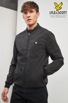 Lyle & Scott Golf Black Bomber Jacket