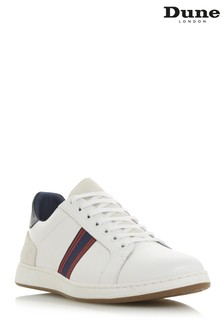 Dune London White Embroidered Runner Shoe