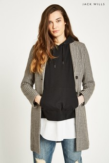 Jack Wills Brown Chelsea Checked Overcoat