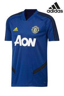 adidas Blue Manchester United Training T-Shirt