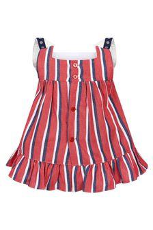 Miranda Baby Girls Red Cotton Dress