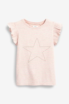 Débardeur rayé motif étoile avec perles (3-16 ans)