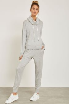 Mint Velvet Grey Cotton Cashmere Jogger
