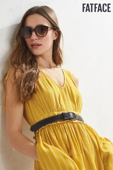 FatFace Yellow Nadine Stripe Midi Dress