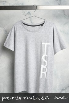 Personalised Large Initial T-Shirt