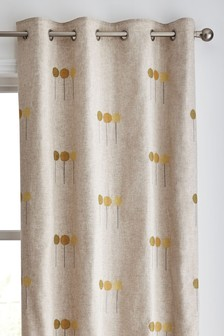 Allium Embroidery Eyelet Curtains