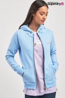 Superdry Blue Lux Zip Hoody