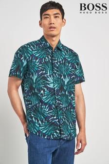 BOSS Green Rash Printed Short Sleeve Shirt